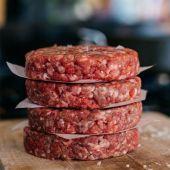 100% Steak Burger Close Up
