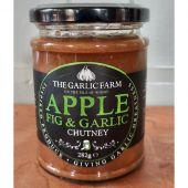 apple fig and garlic chutney