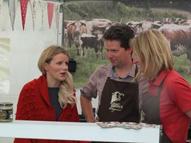 With Ellie Harrison, BBC Countryfile at Ludlow Food Fest
