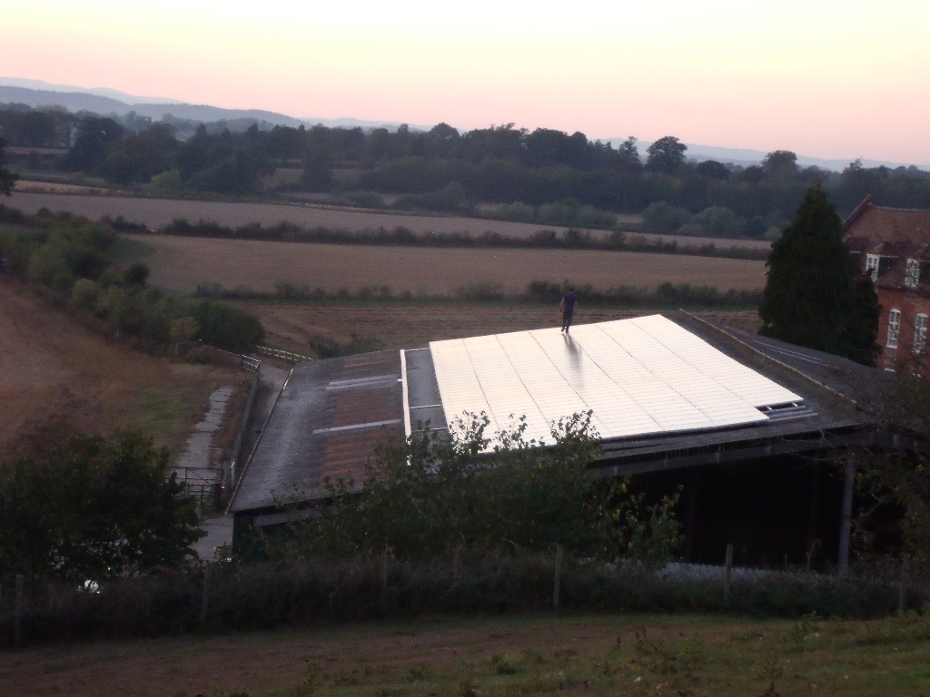 Solar Panels on the main cattle shed